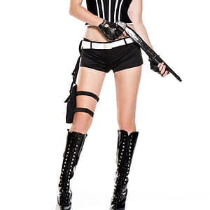 ML70724 Music Legs Costume Bad Swat Babe Police 6pc Costume fv