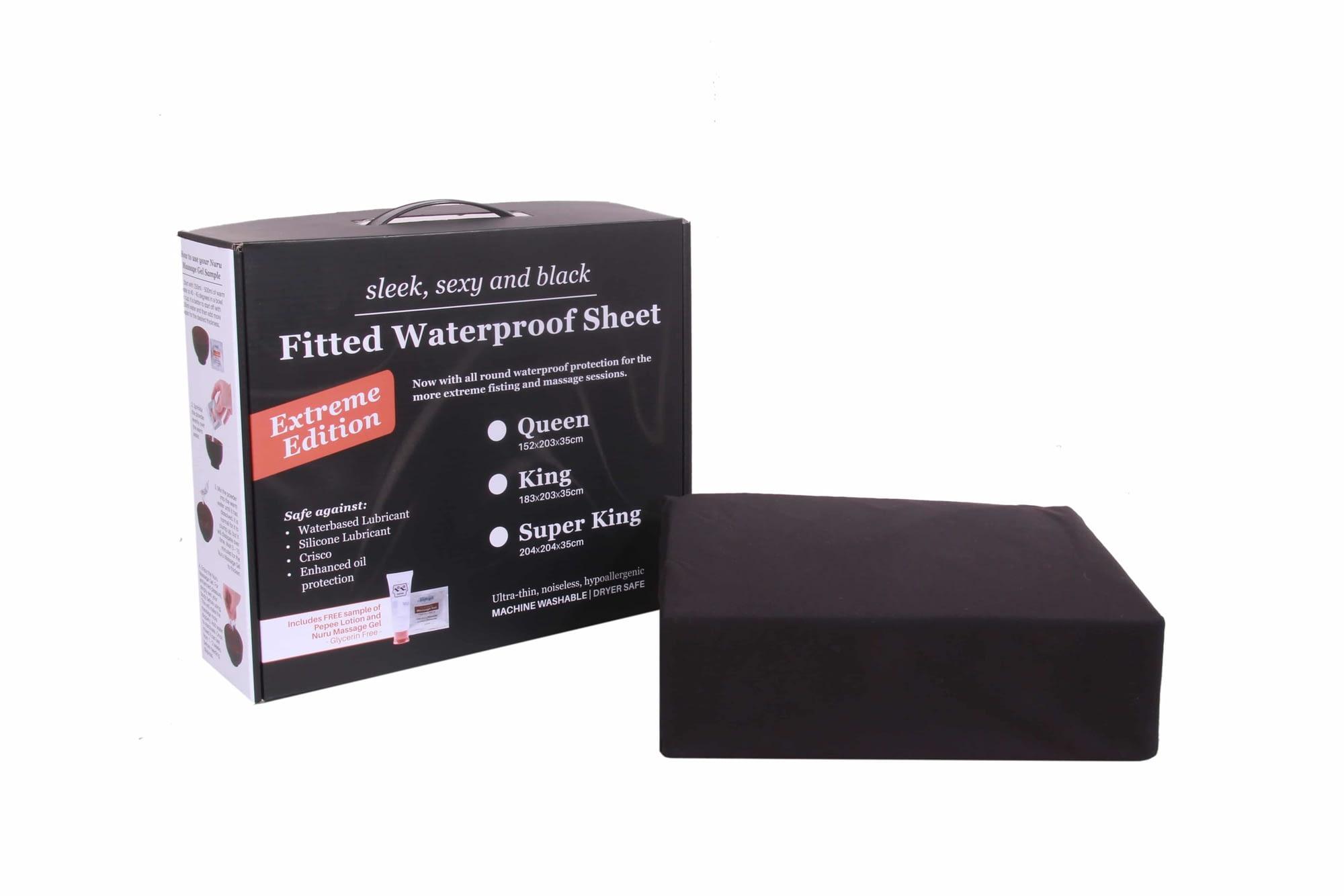 Eroticgel Australia Black Waterproof Bedding Extreme Edition Front