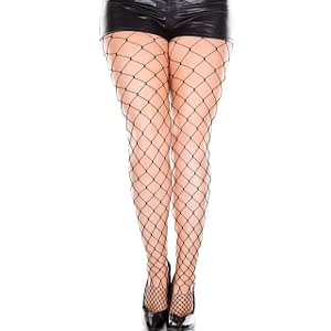 ML9024Q Music Legs Diamond Net Pantyhose Black Queen Size