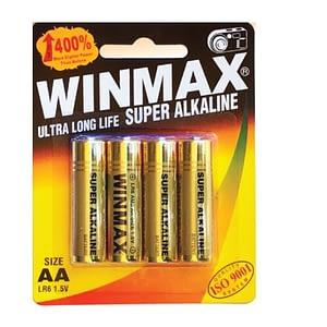 Winmax AA Super Alkaline Batteries 4pk
